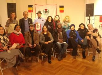 – تكريمُ الشاعرة الدكتورة عدالة جرادات (سيِّدة الثقافة )  في مهرجان بروكسل 2019 ببلجيكا  –  أرسلت من الشاعر حاتم جوعية