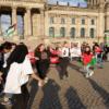 وقفة أمام البرلمان الألماني البوندستاغ من أجل الحق الفلسطيني.